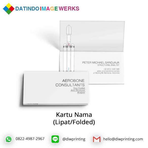 Folded Card Kartu Nama Lipat